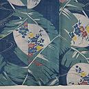 芭蕉に秋の花の図夏着物 上前