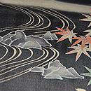 桜楓風景の図単衣羽織 質感・風合