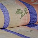 竹に秋草の図小紋 質感・風合