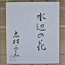 志村ふくみ作「水辺の花」 色紙