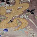 桔梗に撫子虫の図単衣色留袖 質感・風合