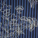 縞に秋草の図単衣小紋 質感・風合