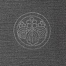 カラスの羽裏の男羽織 五三桐紋