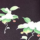 雪持ち笹とヤブコウジの付下 質感・風合