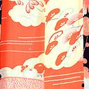 縞竹に梅と牡丹羽織 羽裏
