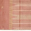 タッサーシルク横紋織りに刺繍の付下 上前