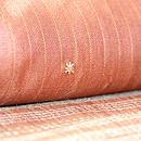 タッサーシルク横紋織りに刺繍の付下 質感・風合