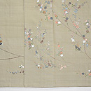 紺地桜の刺繍付下 上前