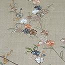 紺地桜の刺繍付下 質感・風合