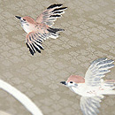 雀と稲穂訪問着 質感・風合