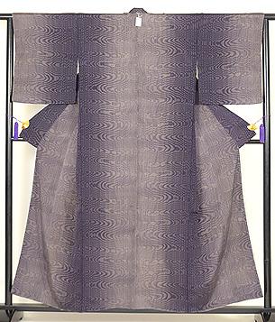 伊予絣濃紫小紋