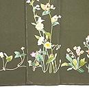 春の野花の図訪問着 上前