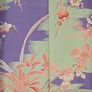 梅の刺繍鶸色羽織 羽裏