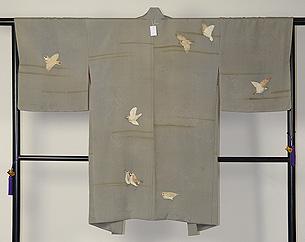 飛翔雀の図羽織