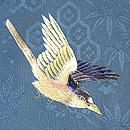 枝垂れ柳に鳥の図刺繍羽織 質感・風合
