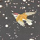 雪に乱舞する雀の図コート 質感・風合(表地)
