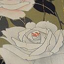 黄海松茶に白バラの小紋 上前