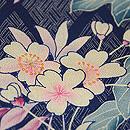 菱紋に葉鶏頭と桜草の散歩着 質感・風合