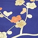 瑠璃色梅の訪問着 質感・風合