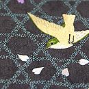 網代文に小鳥の刺繍付下 質感・風合