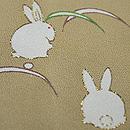 ホリヒロシ作「雪月花にうさぎ」の図付下 八掛のうさぎ