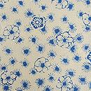 松原八光作 白地型梅に松葉丸古代小紋 質感・風合