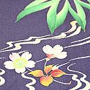 流水に楓と桜の図訪問着 質感・風合