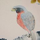 桜枝に小鳥の図訪問着 質感・風合
