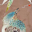 笹に山葡萄、百舌鳥の付下 質感・風合