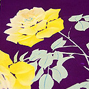 紫地薔薇の小紋 質感・風合