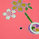 桜にお雛様小紋 質感・風合