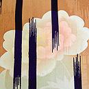 芥子の花に縦絣散歩着 質感・風合