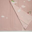 桜色花の丸絞り染付下 上前