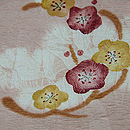 桜色花の丸絞り染付下 質感・風合