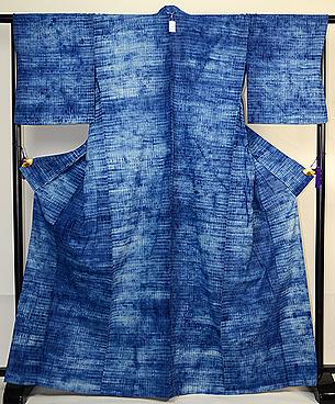 手紡ぎ木綿の絞り単衣