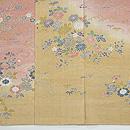しょうざん 生紬ぼかしに四季の花図訪問着 上前