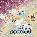 貝島はるみ作 四季の花々模様訪問着 質感・風合