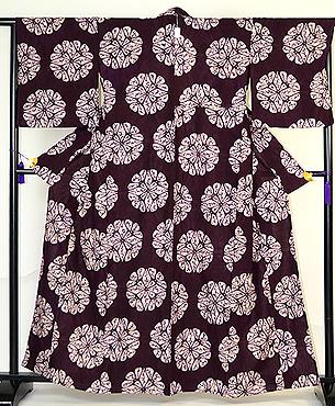 南部絞り紫根染単衣