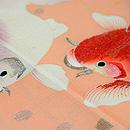 金魚づくし単衣訪問着 質感・風合