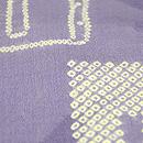 疋田絞り和本に羽根の袷小紋 一つ紋