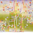 段ぼかし流れに松と桜の袷付下小紋 上前