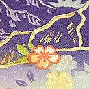 段ぼかし流れに松と桜の袷付下小紋 一つ紋
