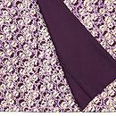 紫根染絞り袷小紋 質感・風合