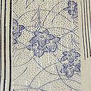 経縞に桔梗単衣小紋 質感・風合