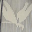 経縞に桔梗単衣小紋 一つ紋