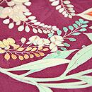 花の丸模様一つ紋単衣 質感・風合