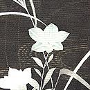 御簾に秋草絽縮緬羽織 質感・風合