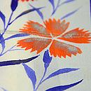 群青色縞ぼかし錦紗地秋草柄付下 質感・風合