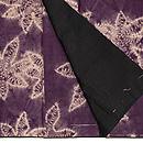 紫根染楓絞り袷小紋 上前