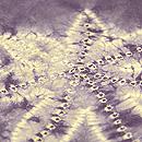 紫根染楓絞り袷小紋 質感・風合